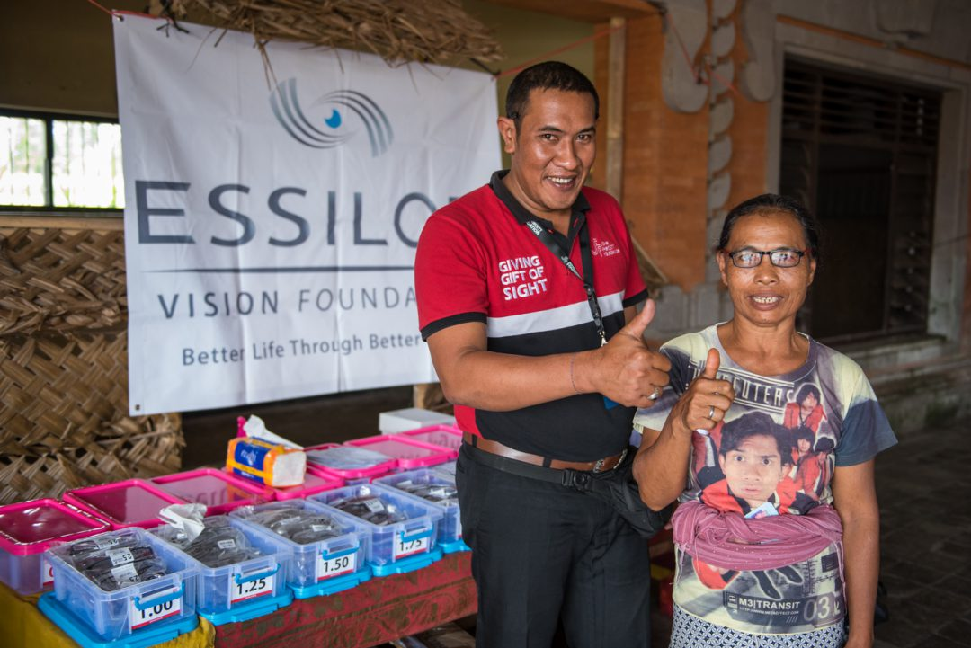 PARTNERSHIP WITH ESSILOR VISION FOUNDATION