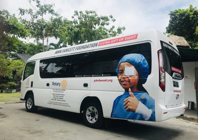DONATION OF NEW TEAM BUS