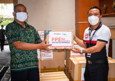 PPE DONATIONS TO DENPASAR DEPARTMENT OF HEALTH